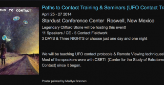 """Stardust Conference/Paths to Contact"" 4/25-4/27 in Roswell, NM"